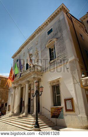 Venice, Italy - July 1, 2021: Teatro La Fenice In Venice, Italy Where Maria Callas Worked For Severa