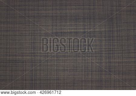 Close Up Roman Blind Or Roller Blind Linen Fabric Texture Sample.