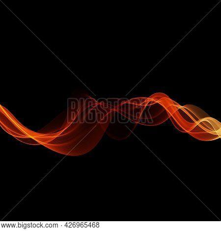 Abstract Shiny Color Gold Transparent Wave Design Element
