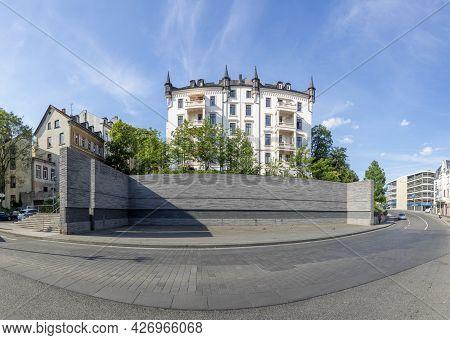 Wiesbaden, Germany - June 11, 2021: Holocaust Memorial In Wiesbaden, Germany.
