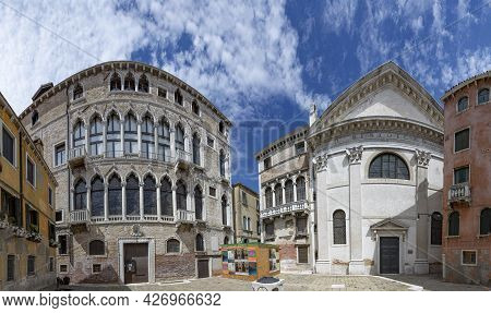 Venice, Italy - July 2, 2021: The Chiesa Di San Benedetto (church Of Saint Benedict) Is A Roman Cath
