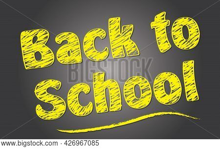 Back To School Kids Graphic Art With Yellow And Black Design