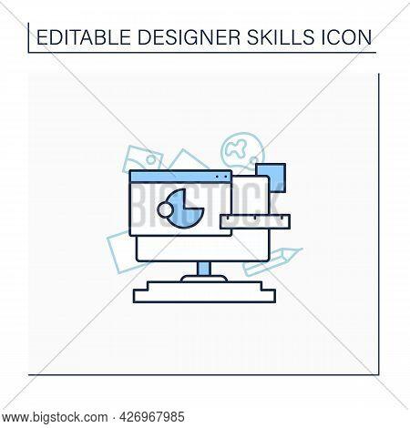 Graphic Design Basics Line Icon. Create Harmonious And Effective Visual Content. Graphic Communicati