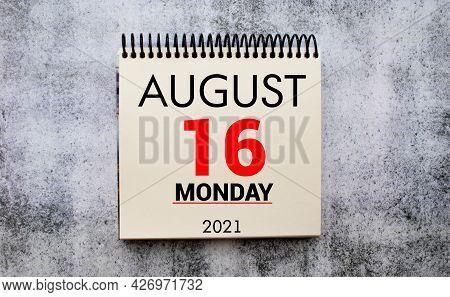 Save The Date Written On A Calendar - August 16