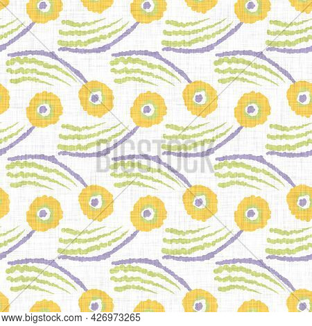 Watercolor Doodle Dot Background. Hand Painted Whimsical Geometric Seamless Pattern. Decorative Whim