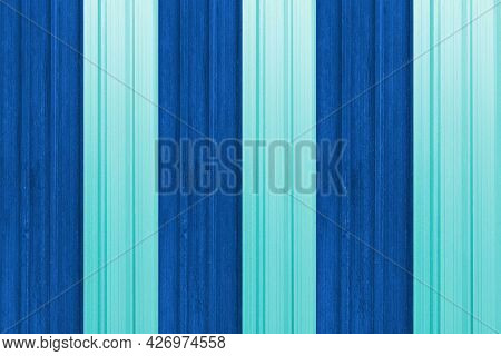 Blue Painted Galvanized Fence Texture And Background Seamless