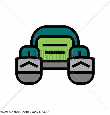 Fly Fishing Pontoon Color Icon Vector. Fly Fishing Pontoon Sign. Isolated Symbol Illustration