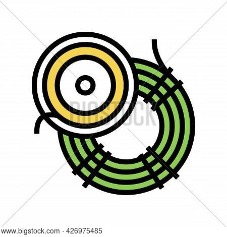 Fly Fishing Line Color Icon Vector. Fly Fishing Line Sign. Isolated Symbol Illustration