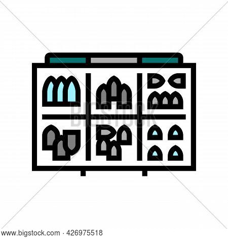 Fishing Weights Color Icon Vector. Fishing Weights Sign. Isolated Symbol Illustration