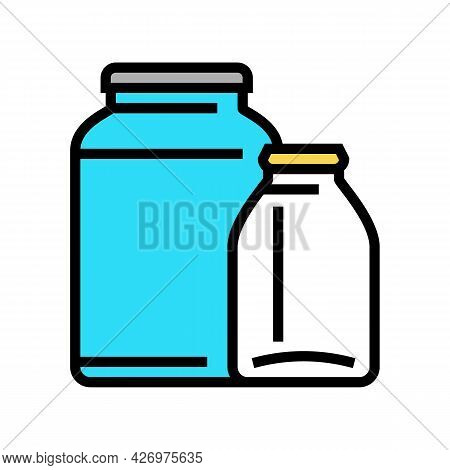 Jar Glass Production Color Icon Vector. Jar Glass Production Sign. Isolated Symbol Illustration