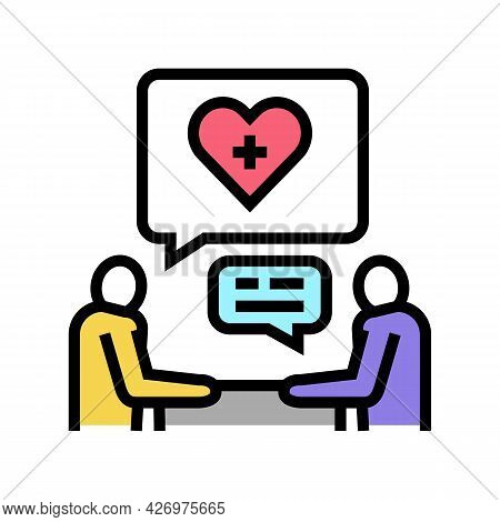 Consultation Homecare Service Color Icon Vector. Consultation Homecare Service Sign. Isolated Symbol