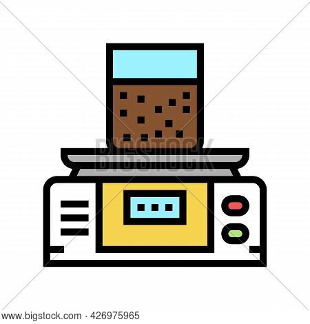 Equipment For Soil Testing And Weight Measuring Color Icon Vector. Equipment For Soil Testing And We