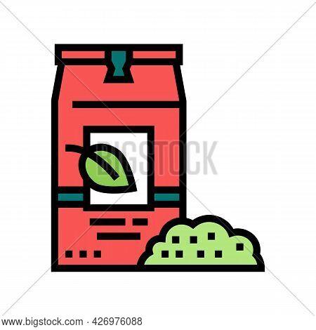 Loose Tea Bag Color Icon Vector. Loose Tea Bag Sign. Isolated Symbol Illustration