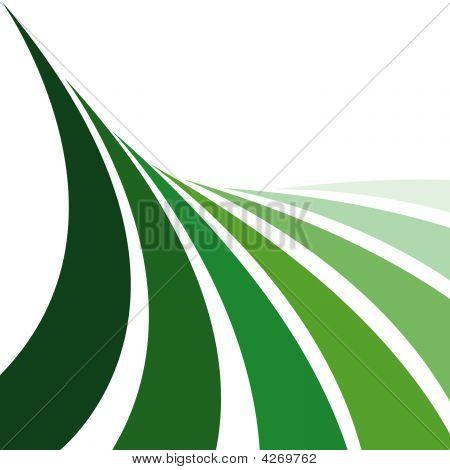 Green Farm Crop Lines