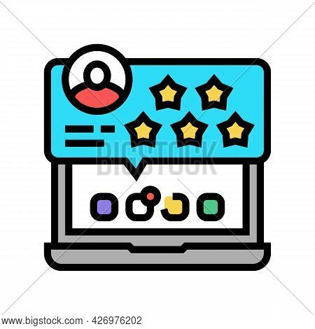 Review And Feedback Of Services Ugc Color Icon Vector. Review And Feedback Of Services Ugc Sign. Iso
