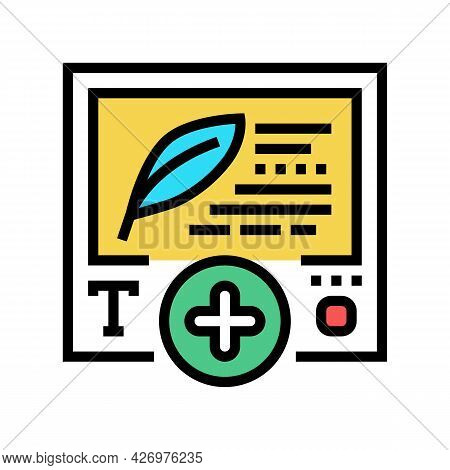 Text Content Ugc Color Icon Vector. Text Content Ugc Sign. Isolated Symbol Illustration