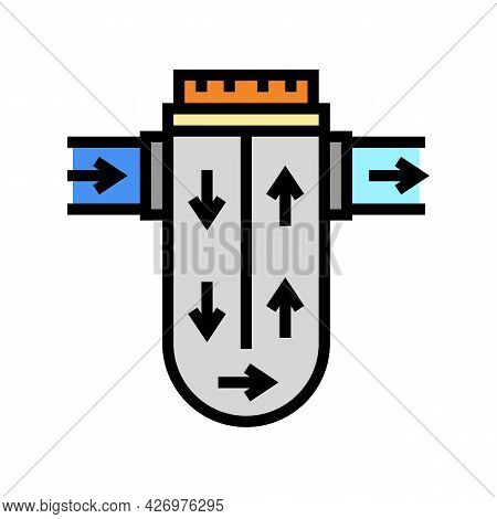 Process Of Water Filtration Color Icon Vector. Process Of Water Filtration Sign. Isolated Symbol Ill
