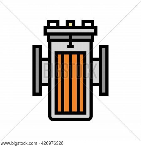 Water Filter Equipment Color Icon Vector. Water Filter Equipment Sign. Isolated Symbol Illustration