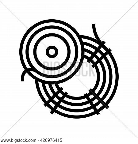 Fly Fishing Line Line Icon Vector. Fly Fishing Line Sign. Isolated Contour Symbol Black Illustration
