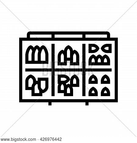 Fishing Weights Line Icon Vector. Fishing Weights Sign. Isolated Contour Symbol Black Illustration