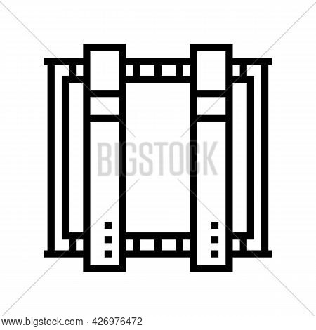 Plant Equipment For Glass Production Line Icon Vector. Plant Equipment For Glass Production Sign. Is
