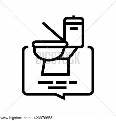 Toilet Use Homecare Service Line Icon Vector. Toilet Use Homecare Service Sign. Isolated Contour Sym