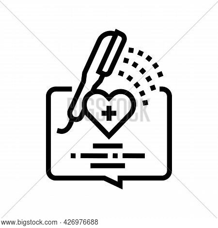 Bathing Homecare Service Line Icon Vector. Bathing Homecare Service Sign. Isolated Contour Symbol Bl