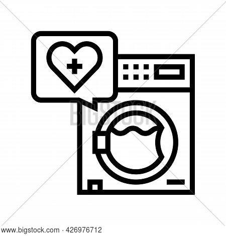 Wash Laundry Homecare Service Line Icon Vector. Wash Laundry Homecare Service Sign. Isolated Contour