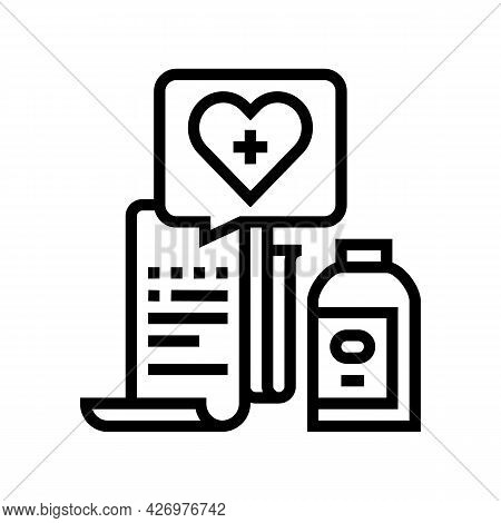Getting Medicines Line Icon Vector. Getting Medicines Sign. Isolated Contour Symbol Black Illustrati