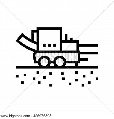 Pipe Layer Machine Line Icon Vector. Pipe Layer Machine Sign. Isolated Contour Symbol Black Illustra