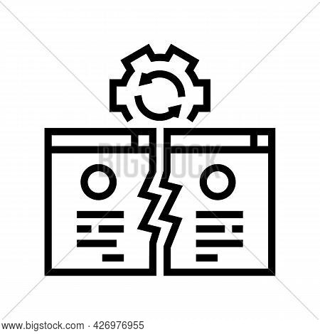 Competitive Website Line Icon Vector. Competitive Website Sign. Isolated Contour Symbol Black Illust