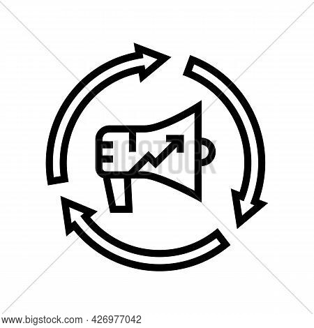 Brand Promotion Line Icon Vector. Brand Promotion Sign. Isolated Contour Symbol Black Illustration