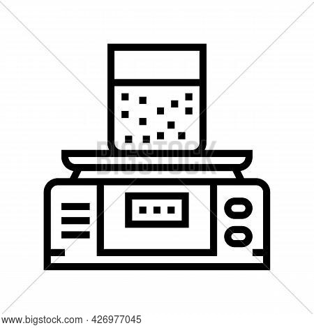 Equipment For Soil Testing And Weight Measuring Line Icon Vector. Equipment For Soil Testing And Wei