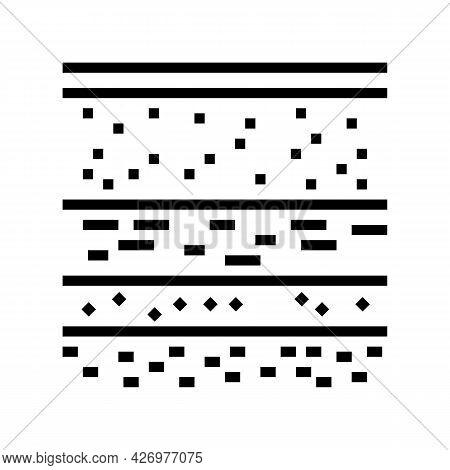 Layers Of Soil Line Icon Vector. Layers Of Soil Sign. Isolated Contour Symbol Black Illustration