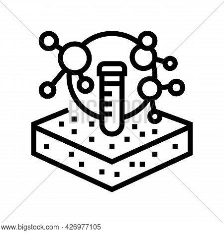 Laboratory Chemical Soil Testing Line Icon Vector. Laboratory Chemical Soil Testing Sign. Isolated C