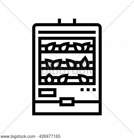 Steaming Tea Line Icon Vector. Steaming Tea Sign. Isolated Contour Symbol Black Illustration