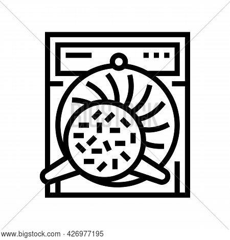 Twisting Tea Line Icon Vector. Twisting Tea Sign. Isolated Contour Symbol Black Illustration