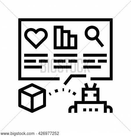 Automatically Analyzing Ugc Line Icon Vector. Automatically Analyzing Ugc Sign. Isolated Contour Sym
