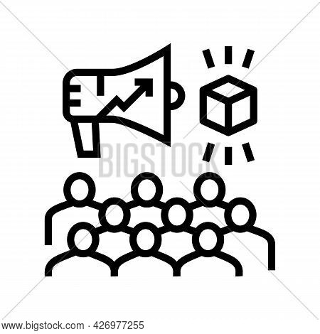 Growth Advertising Review Ugc Line Icon Vector. Growth Advertising Review Ugc Sign. Isolated Contour