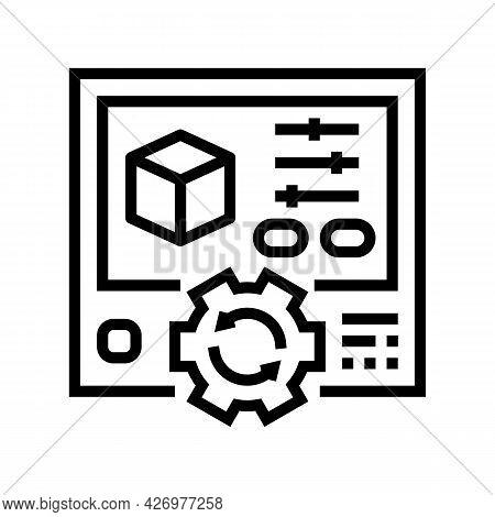 Setting Ugc Line Icon Vector. Setting Ugc Sign. Isolated Contour Symbol Black Illustration