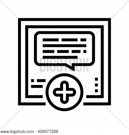 Chatting With User Ugc Line Icon Vector. Chatting With User Ugc Sign. Isolated Contour Symbol Black