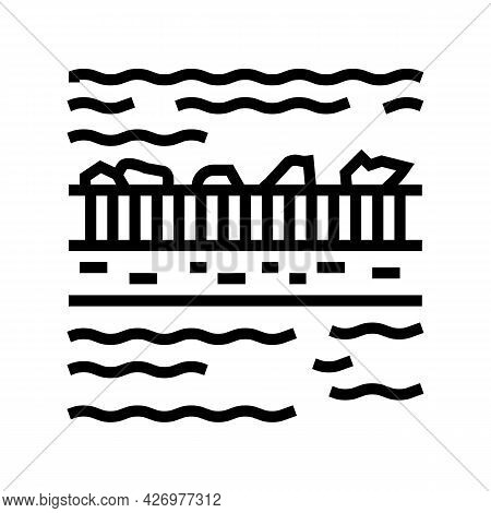 Filtration Water Line Icon Vector. Filtration Water Sign. Isolated Contour Symbol Black Illustration