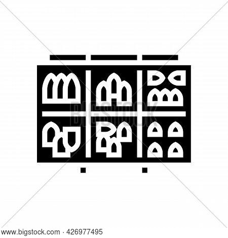 Fishing Weights Glyph Icon Vector. Fishing Weights Sign. Isolated Contour Symbol Black Illustration