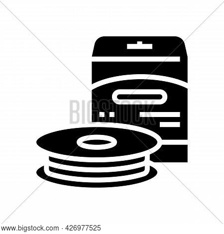 Monofilament Line Glyph Icon Vector. Monofilament Line Sign. Isolated Contour Symbol Black Illustrat