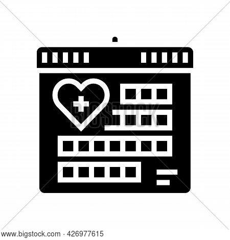 Schedule Homecare Service Glyph Icon Vector. Schedule Homecare Service Sign. Isolated Contour Symbol