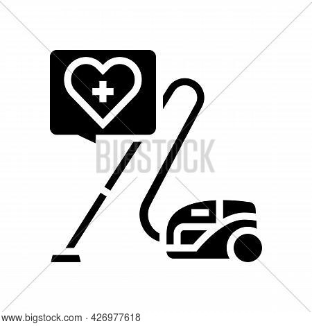 Cleaning Homecare Service Glyph Icon Vector. Cleaning Homecare Service Sign. Isolated Contour Symbol