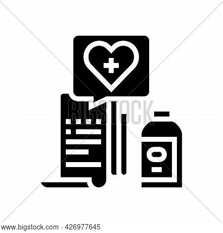 Getting Medicines Glyph Icon Vector. Getting Medicines Sign. Isolated Contour Symbol Black Illustrat