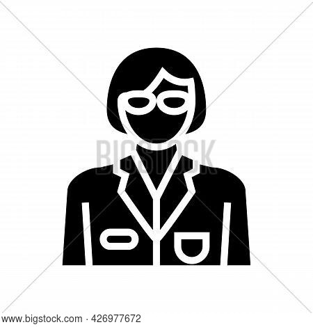 Social Worker Glyph Icon Vector. Social Worker Sign. Isolated Contour Symbol Black Illustration