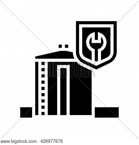 Installation Of Storage Tank Glyph Icon Vector. Installation Of Storage Tank Sign. Isolated Contour