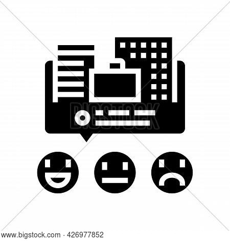 Reviews Business Services Glyph Icon Vector. Reviews Business Services Sign. Isolated Contour Symbol